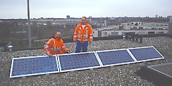 first 4 solar panels installed