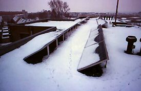 Snow cover on PV-system on March 2 2005.
