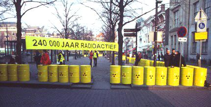 Radio active waste remains dangerous for 240.000 years. For this reason alone, for which there still is no solution, the remaining nuclear reactor Borssele should be closed in 2013 or, hopefully, earlier.